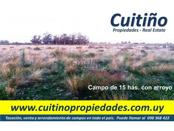 Buen campo 12 has. agrícola ic173 con arroyo