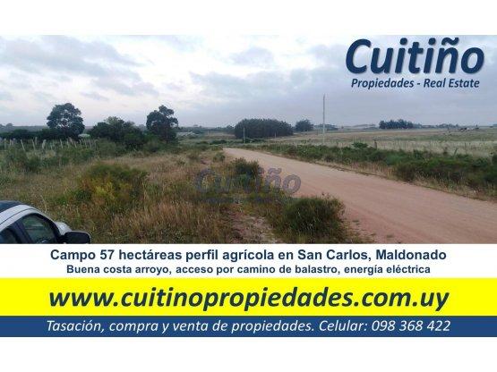 Campo 57 has con arroyo en San Carlos Maldonado