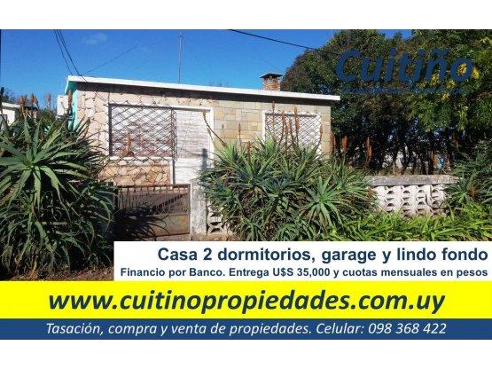 Casa en Tala. Entrega U$S 35000 y cuotas en pesos