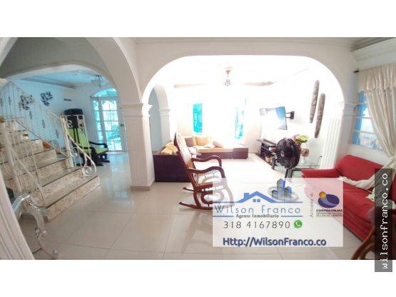 Hermosa Casa En Venta, El Country, Cartagena