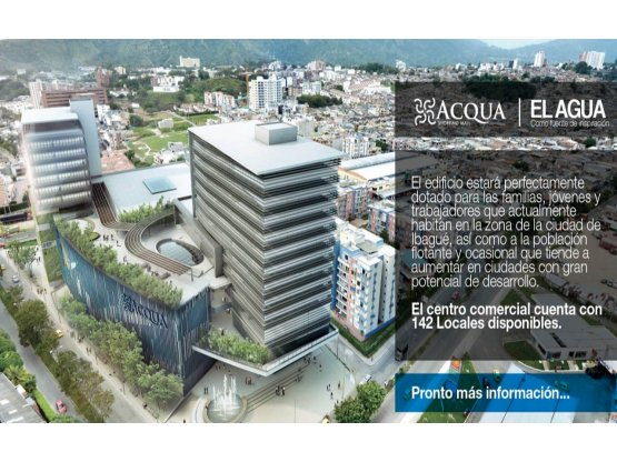 Se Vende Local C.C ACQUA en Ibague