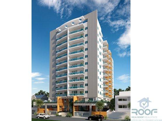 Torre de apartamentos de 2 y 3 habitaciones. Naco