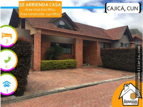 Se arrienda hermosa casa Cajicá