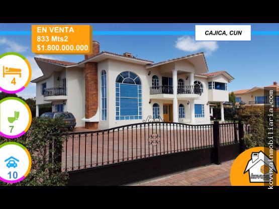 Casa en venta en Cajica, Conj Res Guarigua