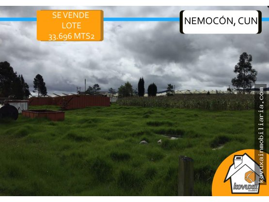 Se vende Lote en Nemocón 33.696 Mts2