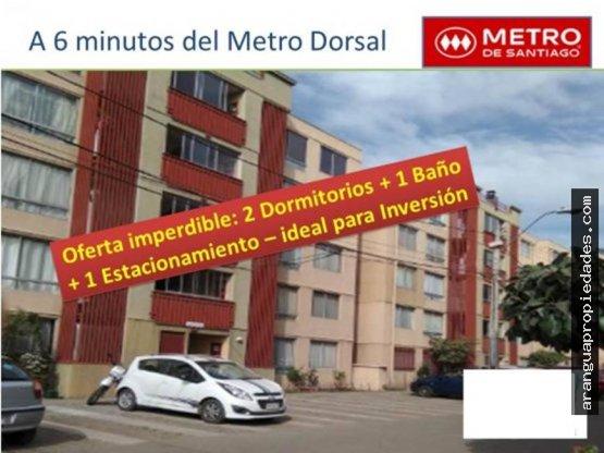 Depto en Venta en Recoleta, Metro Dorsal