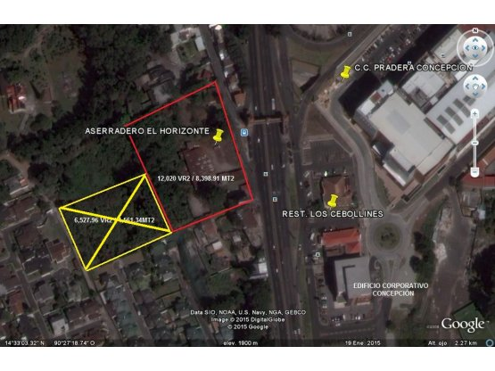 Alquiler de terreno en Carretera El Salvador