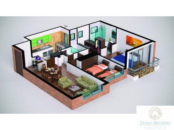 Apartamento Club House Cota