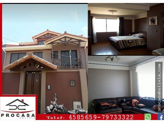Casa en Venta Tiquipaya Colegio AISB