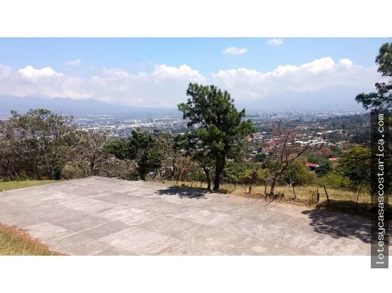 Se vende lote en Escazu con vistas negociable