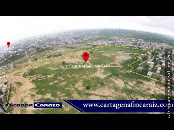 Venta de lote industrial en Mamonal - Cartagena