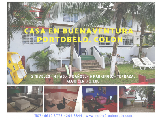 CASA DE PLAYA PORTOBELO. Colon