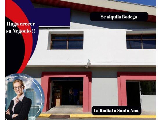 Se alquila Bodega/Oficinas en Santa Ana