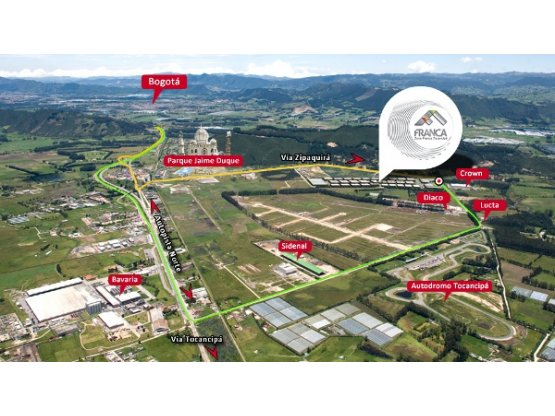 Venta Lote para Bodegas - Zona Franca Tocancipa