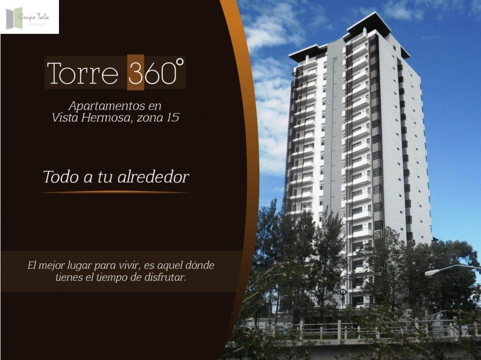 VENTA- APARTAMENTO TORRE 360 ZONA 15 VISTA HERMOSA