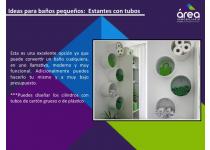 Piensas que es difícil ser moderno, ordenado y creativo al tener poco espacio en el baño de tu casa?