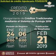Solicitud de crédito hipotecario FOVISSSTE Espera al 21 de Febrero Los resultados